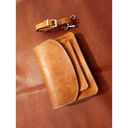 کیف دوشی چرم طبیعی شتری