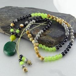گردنبند زیبای سنگهای طبیعی